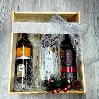 Caja de madera 6 botellas Acios de Oro