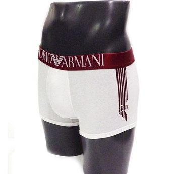 Boxer Armani Shiny Logo Band Red