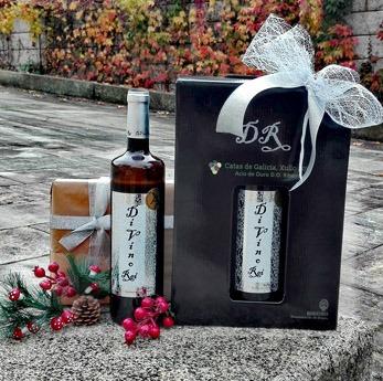 Estuche 3 botellas Divino Rei D.O. Ribeiro, edición especial navidad