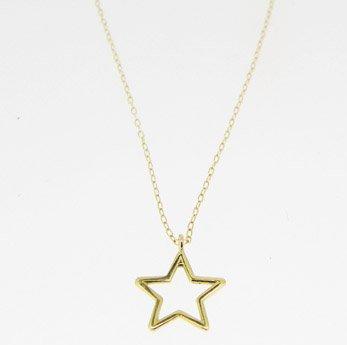 Gargantilla oro 18k con colgante estrella abierta