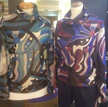 Jersey de licra de cuello alto, Yana Bereza Diseños