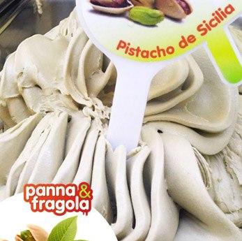 Tarrina de helado artesanal