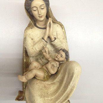 Virgen adorando al niño, marca San Jorge