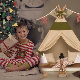 Caja Mágica con un Pijama Party entre Teepees