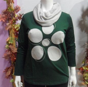 Jersey verde Mujer