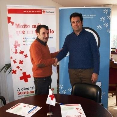 Firma de convenio con cruz vermella