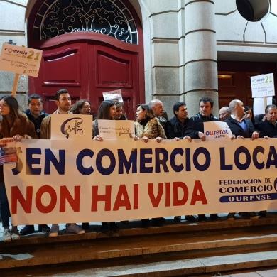 Manifestación de Apoyo al comercio local