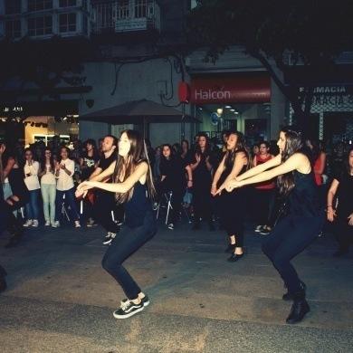 Baile nas rúas de Ourense