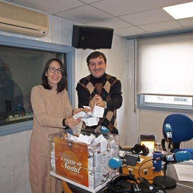 Sorteo de 1.000€ campaña de navidad realizado en la cope Ourense