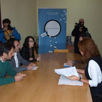 Visita da delegada territorial da xunta en Ourense, Marisol Díaz, e do xefe territorial de economía, emprego e industria, Santiago Álvarez.