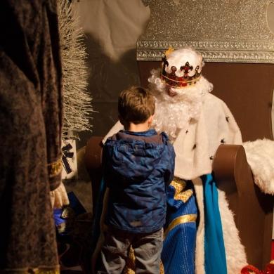 Visita do rei melchor ás rúas de Ourense Centro