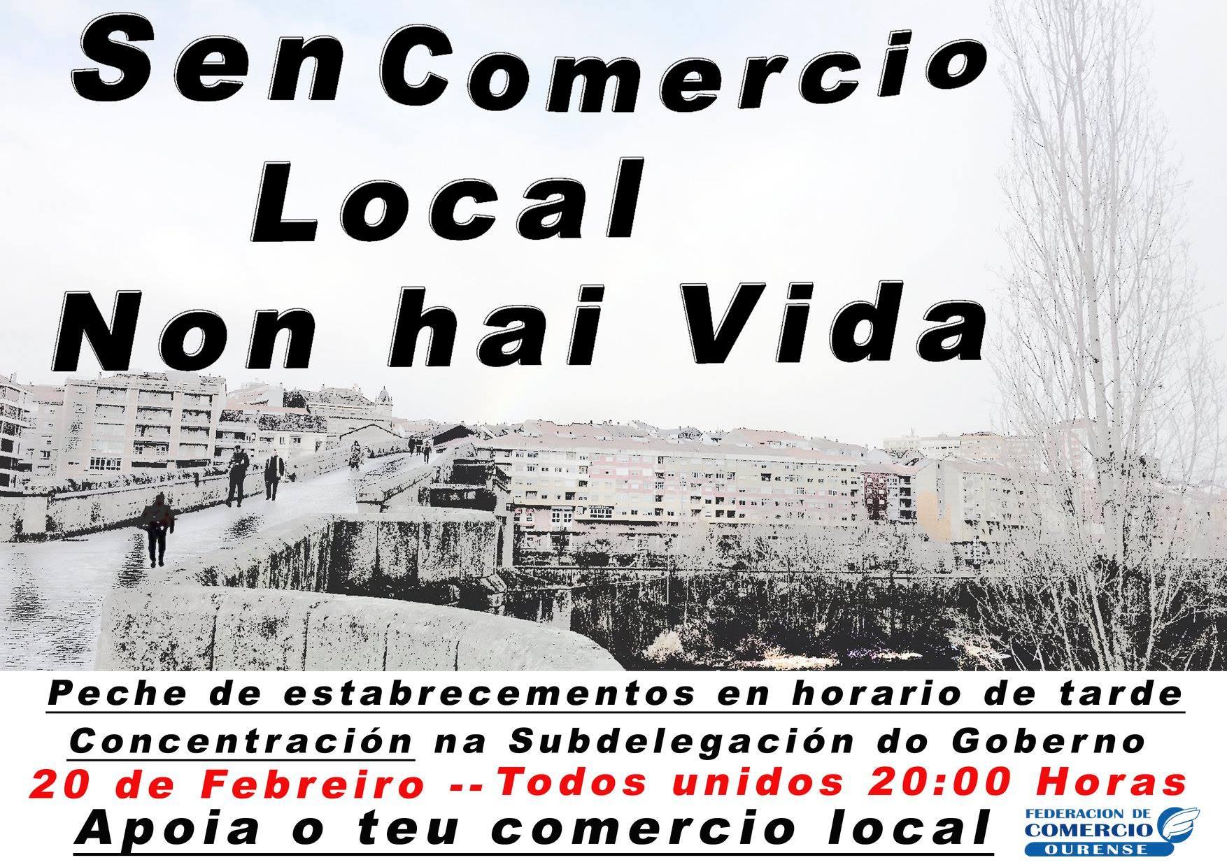 El CCA Ourense Centro apoya el manifiesto a favor del comercio local
