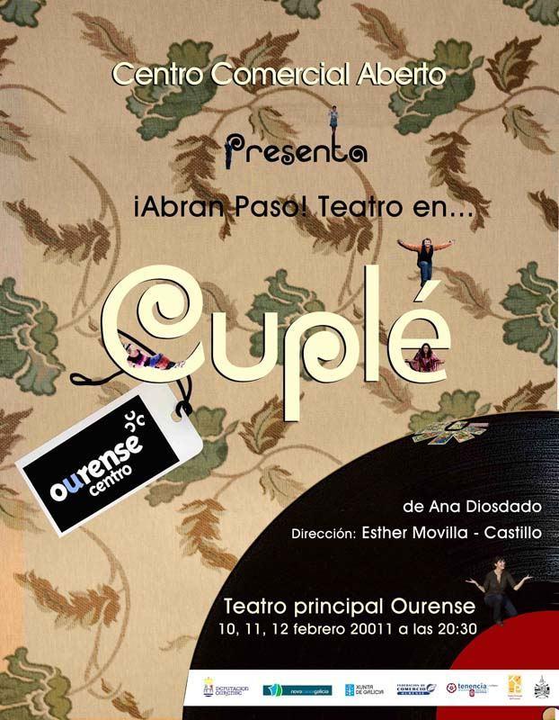 Cuplé: Sesión de teatro para disfrutar en pareja por cortesía de Ourense Centro