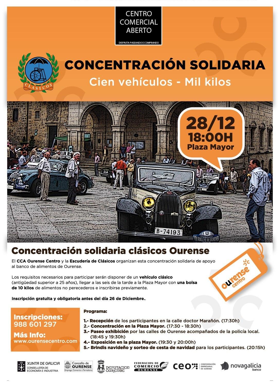 Concentración y ruta solidaria Cien vehículos - Mil kilos