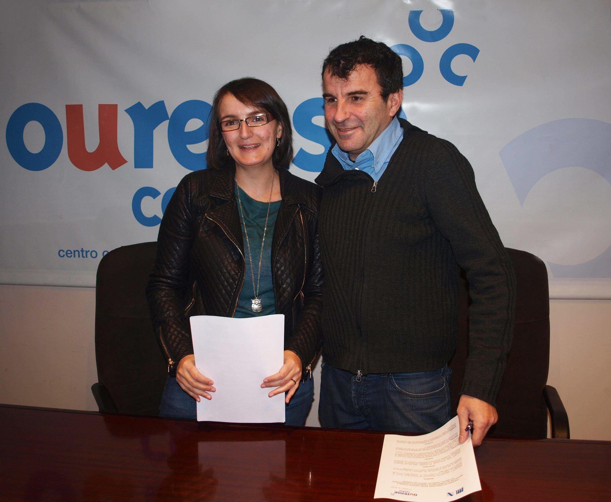 Convenio de colaboración entre CCA Ourense Centro e Discafis-COGAMI