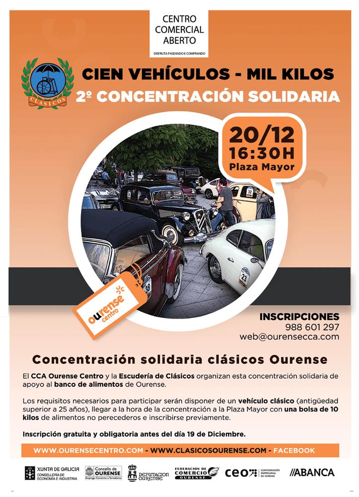 """Concentración y ruta urbana solidaria """"Cien Coches - Mil Kilos"""""""