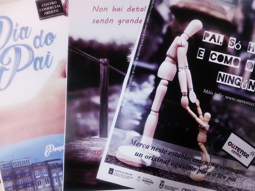 Alumnos do CIFP Portovello deseñan as súas propostas para o cartel da campaña do Día do Pai do CCA Ourense Centro
