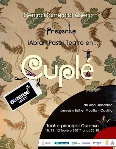 """""""Cuplé"""" Sesión de teatro para disfrutar con tu pareja por cortesía de Ourense Centro"""