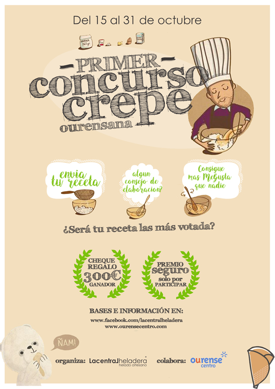 Participa en el I concurso crepe Ourense