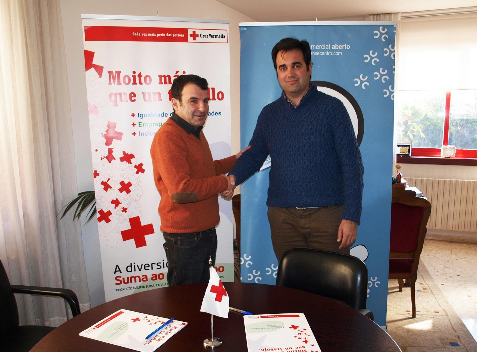 Cruz Roja y el Centro Comercial Aberto firman un convenio de colaboración
