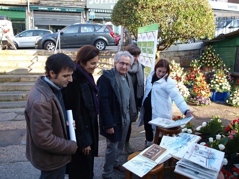 Ourense centro promueve en la plaza de abastos un maratón de dibujo al aire libre.