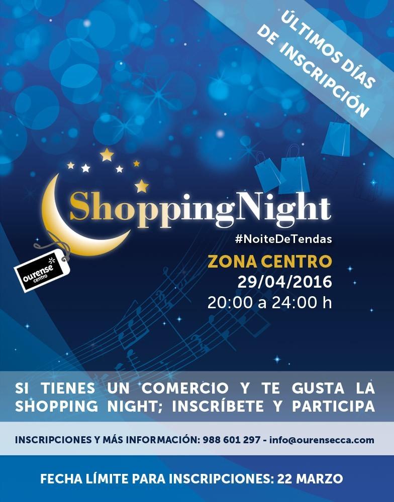 El 22 de marzo finaliza el plazo de inscripción para la IV Shopping Night de Ourense Centro