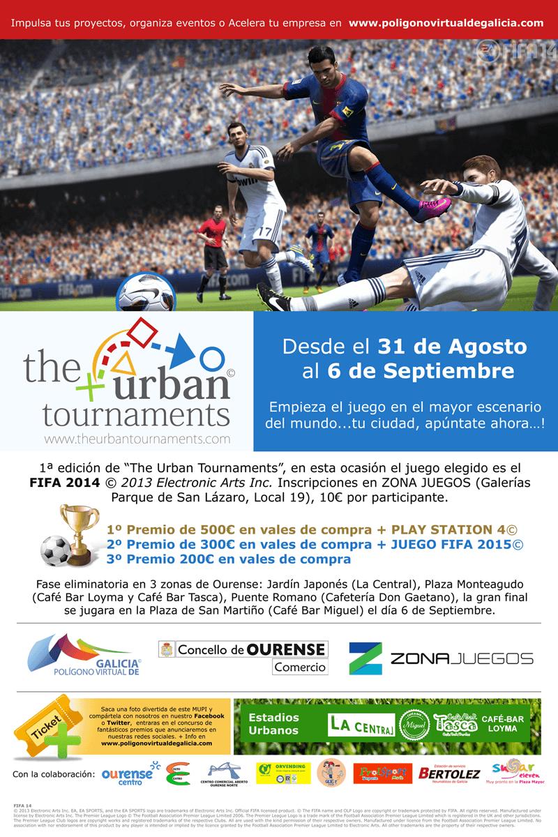 """Sorteo de 12 inscripcións gratuitas para """"The Urban tournaments"""""""