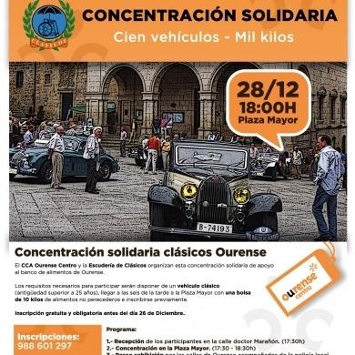 Concentracion y ruta solidaria Cien vehiculos - Mil kilos