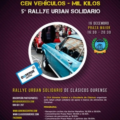 Concentracion solidaria coches Clasicos 2017 - Inscripciones y requisitos