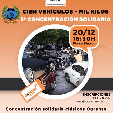 Concentracion y ruta urbana solidaria Cien Coches - Mil Kilos