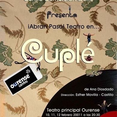 Cuple Sesion de teatro para disfrutar con tu pareja por cortesia de Ourense Centro