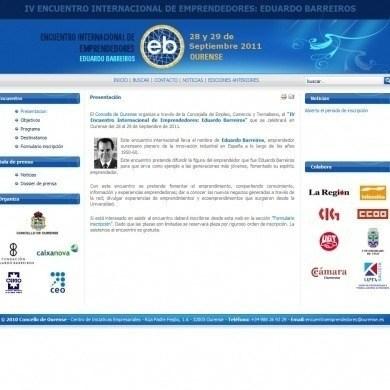 """IV encuentro internacional de emprendedores """"Eduardo Barreiros"""""""