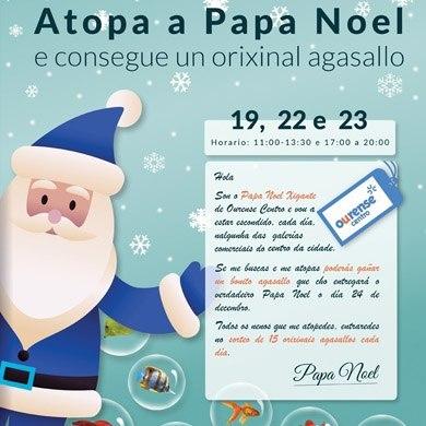 Atopa o Papa Noel, e consegue un orixinal agasallo