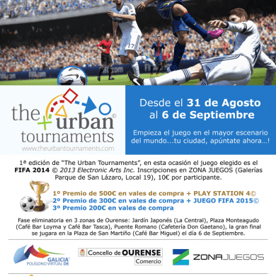 "Sorteo de 12 inscripcións gratuitas para ""The Urban tournaments"""
