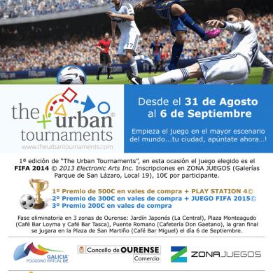 Sorteo de 12 inscripcions gratuitas para The Urban tournaments