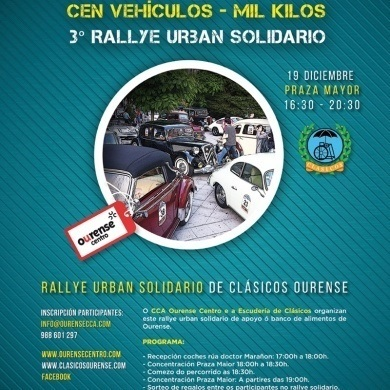 Inscripciones Concentración Solidaria 'Cien vehículos - Mil kilos' 2015